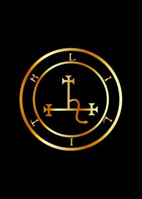Sigil of Lilith in gold
