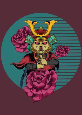 the cat samurai poster