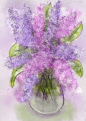 Whimsical Spring Lilacs