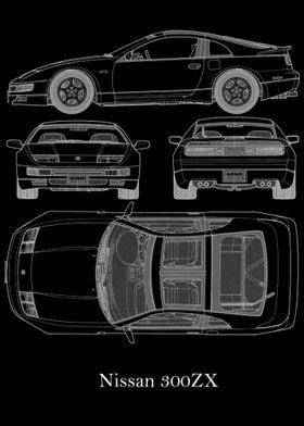 Nissan 300ZX Blueprint