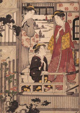 Three Women on a Veranda