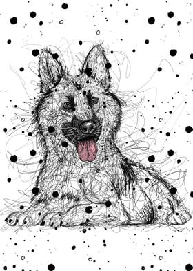 Scribble German Shepherd