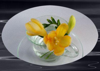 Yellow freesia buds