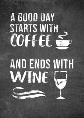 Coffee And Wine Funny