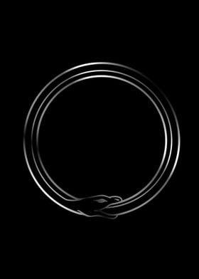 Symbol of Ouroboros snake