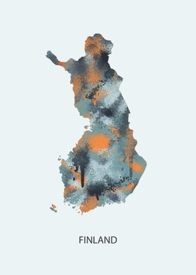 Finland map spray paint