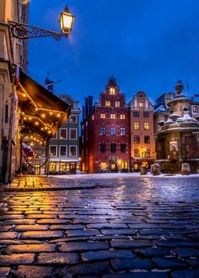 Old Town Winter Night I