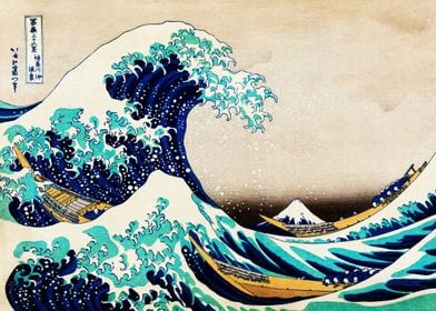 The Great Wave Vintage Art