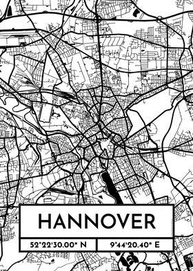 Hannover City Map Design
