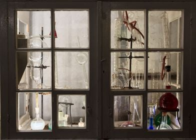 Old Laboratory Cabinet
