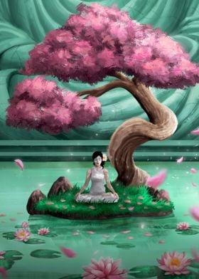 Meditation Sakura Lotus
