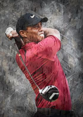 Tiger Woods Poster Print