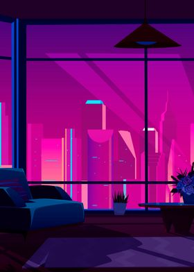Synthwave Neon City