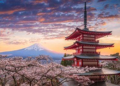 Japan at chureito pagoda a