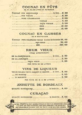 ALCOOL PRIX 1888