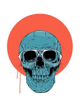 Blue skull II