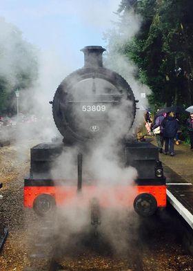 Vintage Steam Train Photo