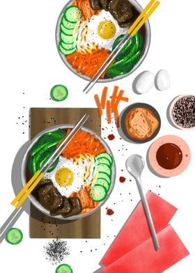 Food Art Bibimbap