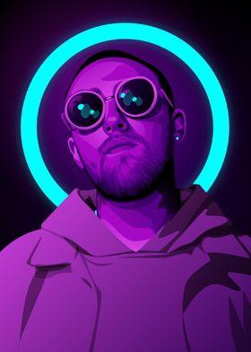 Mac Miller neon