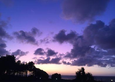 Purple Sky Landscape