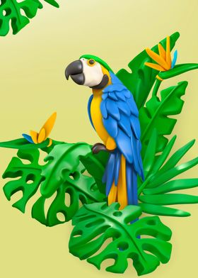 exotic parrot