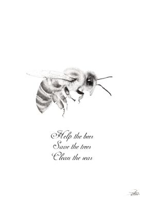 Help the bees black  white