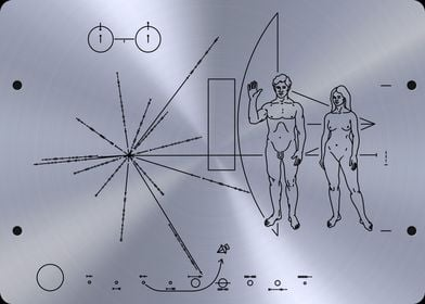 NASA plaque Pioneer 10