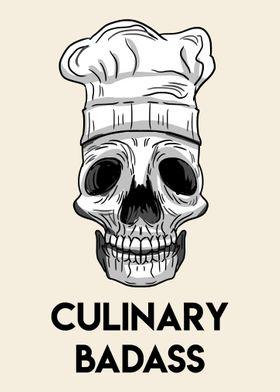 Culinary Badass Skull