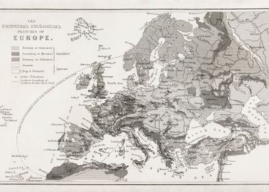 Old  Europe Geological map