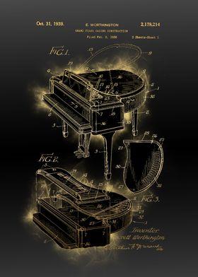 grand piano patent black