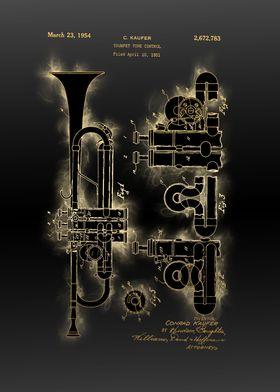 trumpet patent black