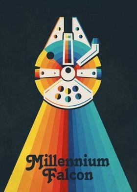 Millenium Falcon Rainbow