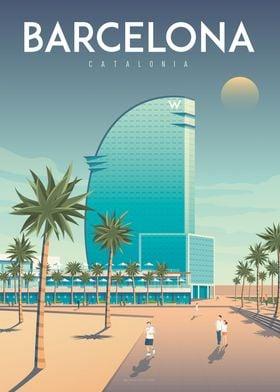 Barcelona Travel Poster