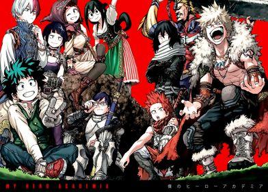 Anime Hero Academia Deku