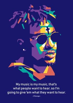21savage quotes poster print by mas nono displate gbp