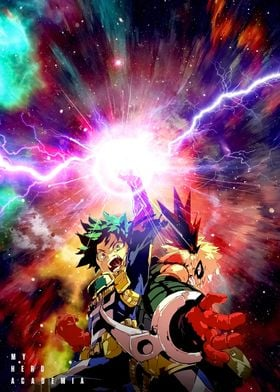 Anime Hero Academia Deku
