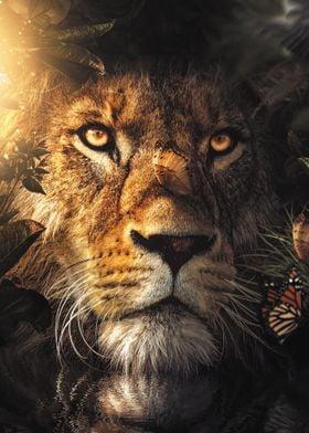 The Hiding Lion