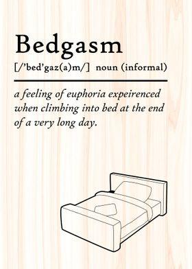 Bed Gasm Definition