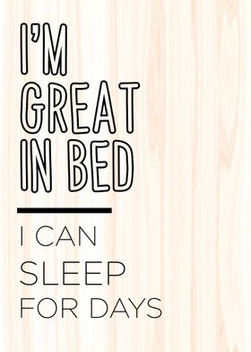 I am GREAT in Bed