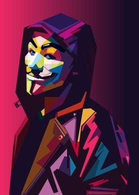 Anonymous in WPAP Pop Art