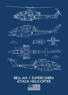 BELL AH1 SUPERCOBRA FLAG