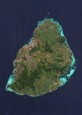 Mauritius Satellite Map