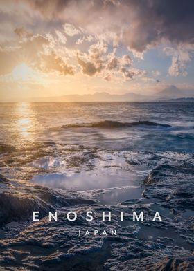 Enoshima island sunset
