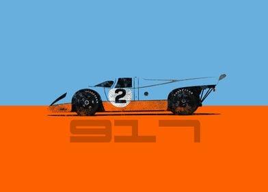 Vintage German race car
