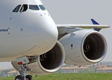 AIRBUS A380 airliner plane