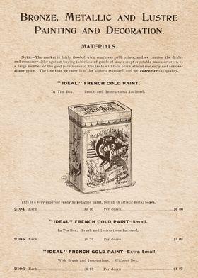 Artist Material Gold Paint