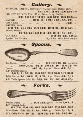 Cutlery Spoons and Forks