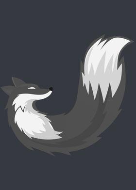 grey stylized Fox