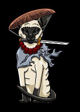 Samurai Siamese Cat
