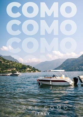 View on lake Como in Italy